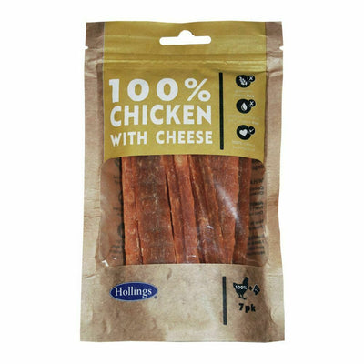 May Vary - Front - Hollings 100% Chicken Bars With Cheese Dog Treats