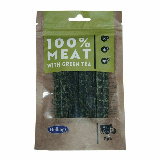 May Vary - Front - Hollings 100% Meat Bar With Green Tea Dog Treats