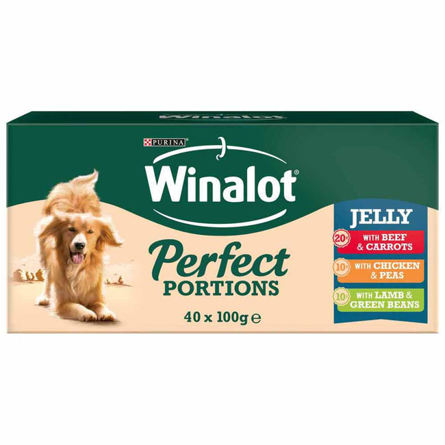 May Vary - Back - Winalot Perfect Portions Chunks In Jelly Dog Food Pouches (Pack Of 40)
