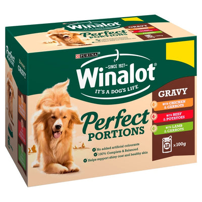 May Vary - Front - Winalot Perfect Portions Chunks In Gravy Dog Food Pouches (Pack Of 12)