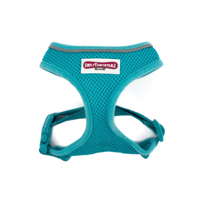 Teal - Front - Ancol Mesh Dog Harness