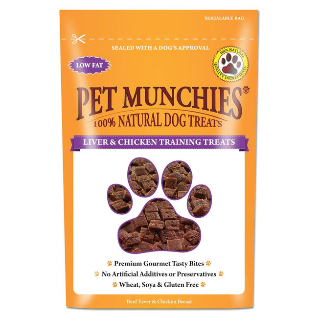 Liver-Chicken - Front - Pet Munchies 100% Natural Dog Training Treats