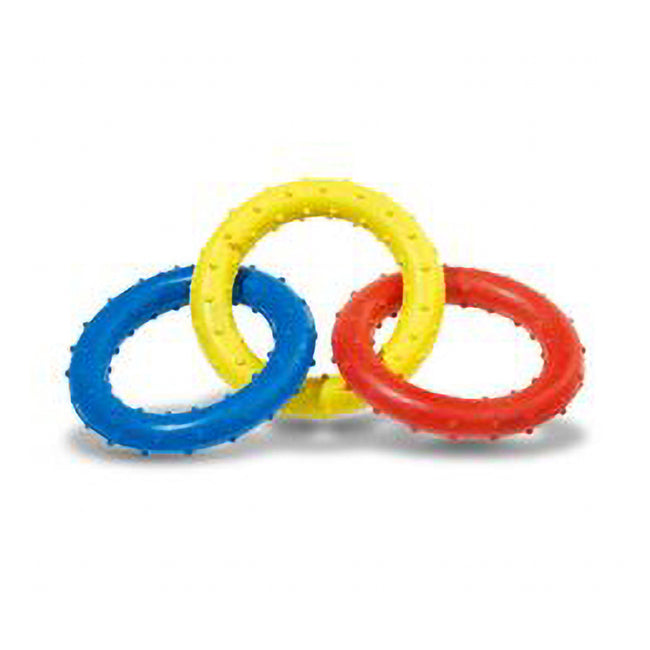 May Vary - Back - Caldex Classic Dogs Pimple Rubber Rings Tug Toy