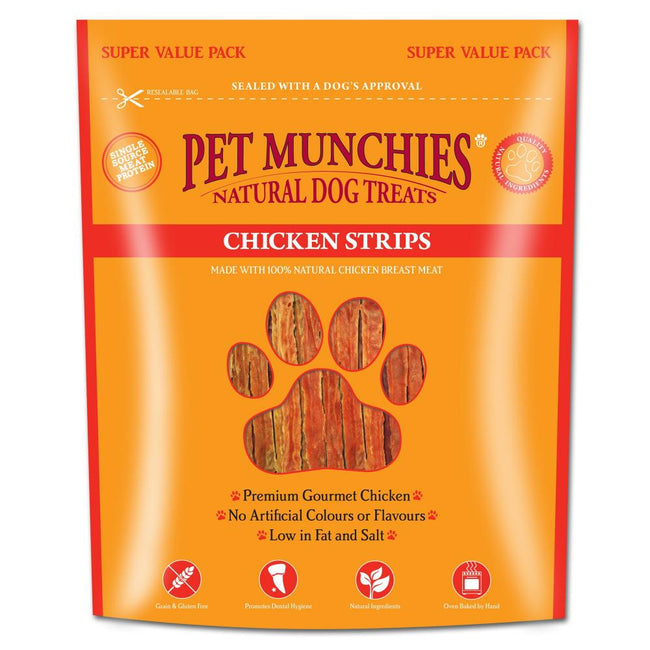 May Vary - Front - Pet Munchies Chicken Strips Dog Treats Super Value Pack