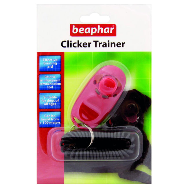 Pink - Front - Beaphar Clicker Trainer