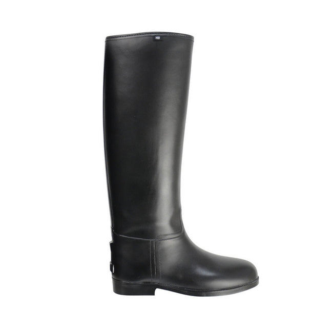 Black - Back - HyLAND Childrens-Kids Long Greenland Waterproof Riding Boots