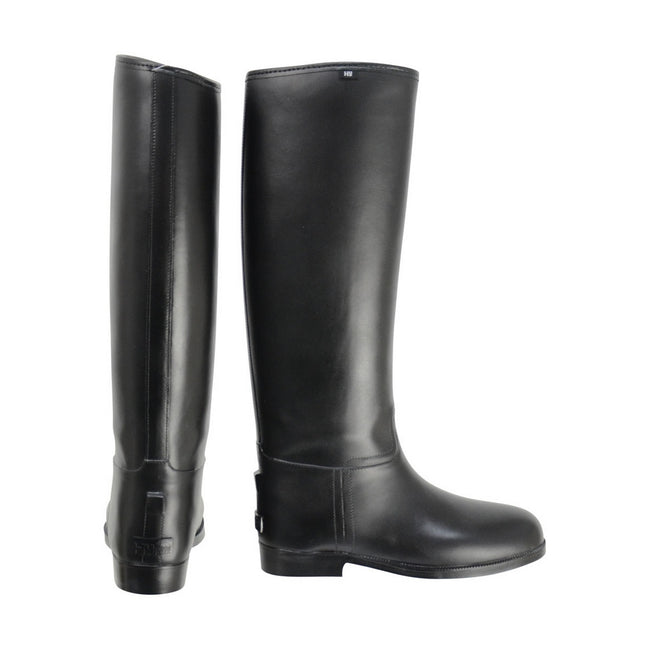Black - Front - HyLAND Childrens-Kids Long Greenland Waterproof Riding Boots