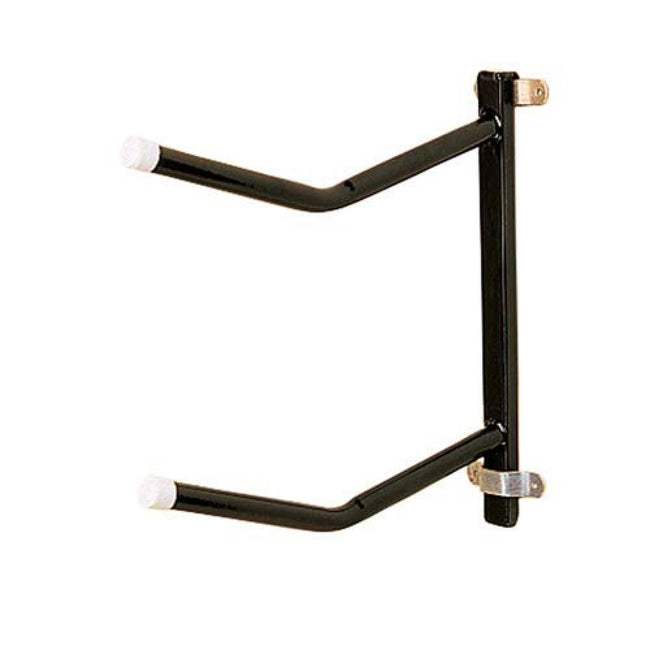 Black - Front - Stubbs Removable Clip-On Twin Saddle Rack