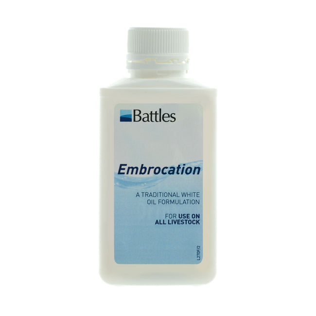 White - Front - Battles Embrocation Liquid