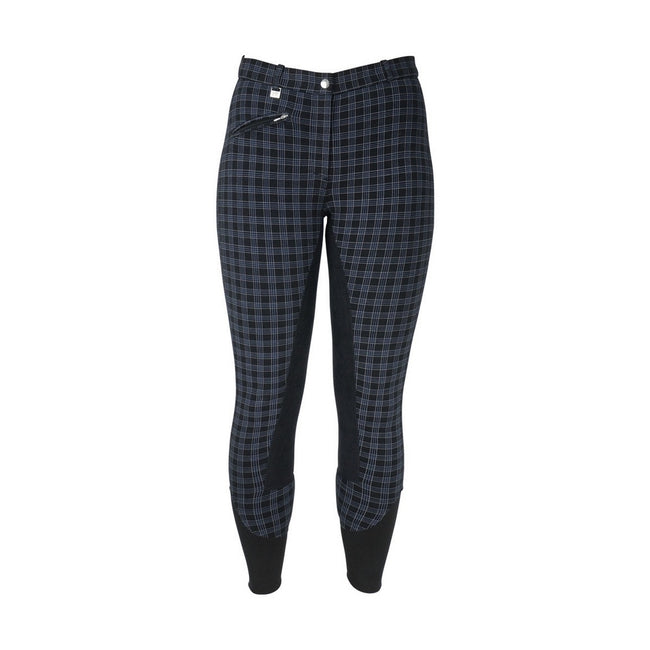 Black Check - Front - HyPERFORMANCE Womens-Ladies Harby Breeches