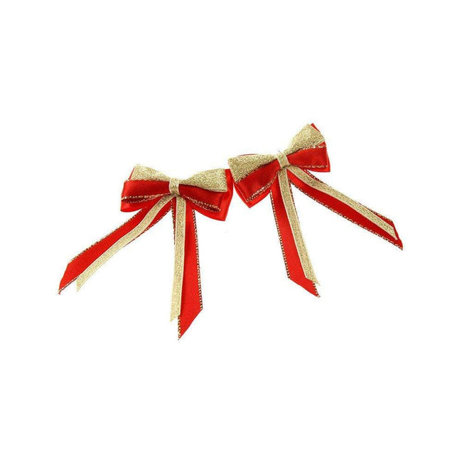 Red-Red-Gold - Front - ShowQuest Piggy Bow and Tails (Pair)