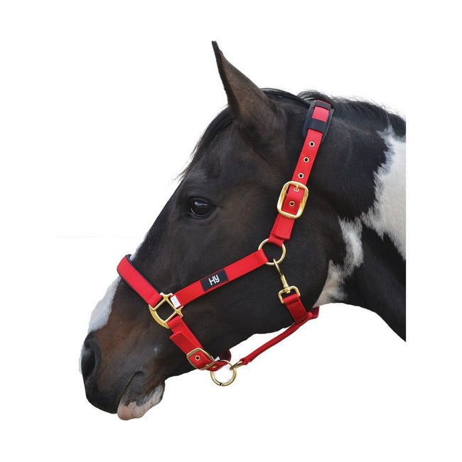 Red - Front - Hy Deluxe Padded Head Collar