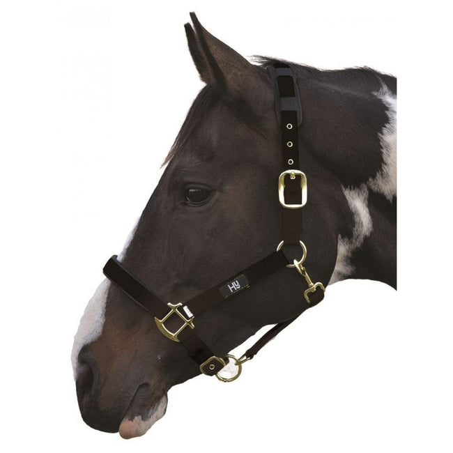 Black - Front - Hy Deluxe Padded Head Collar