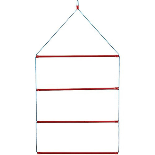 Blue-Red - Front - Stubbs Hanging Blanket Rack