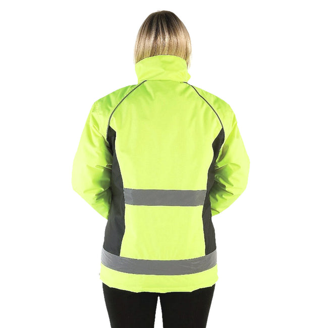 Yellow-Black - Front - HyVIZ Adults Waterproof Riding Jacket