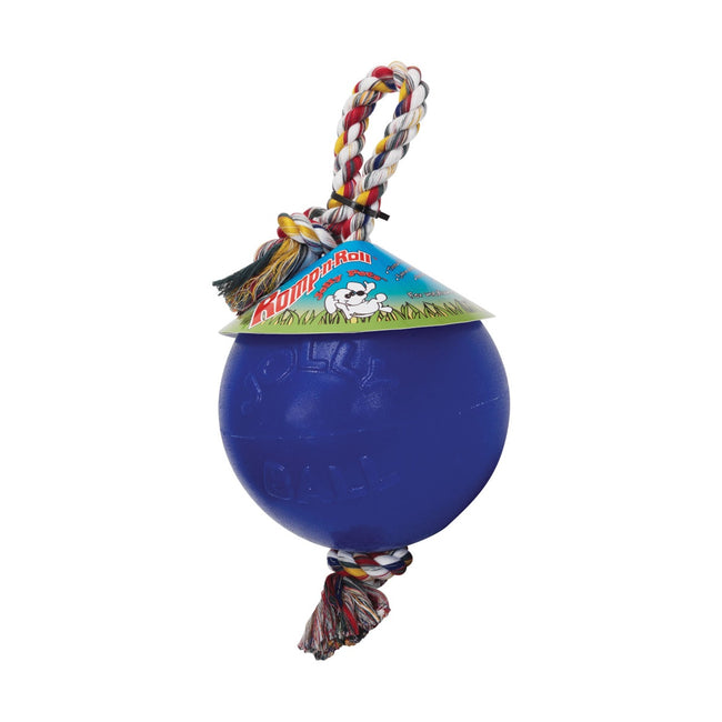 Blue - Front - Horsemens Pride Jolly Ball Romp-N-Roll Horse Toy