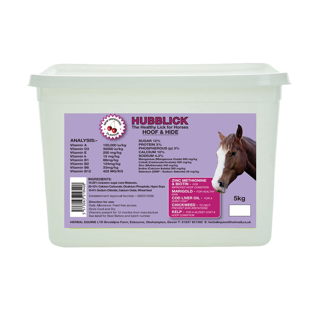 White-Lilac - Front - Hubblick Hoof And Hide Horse Lick