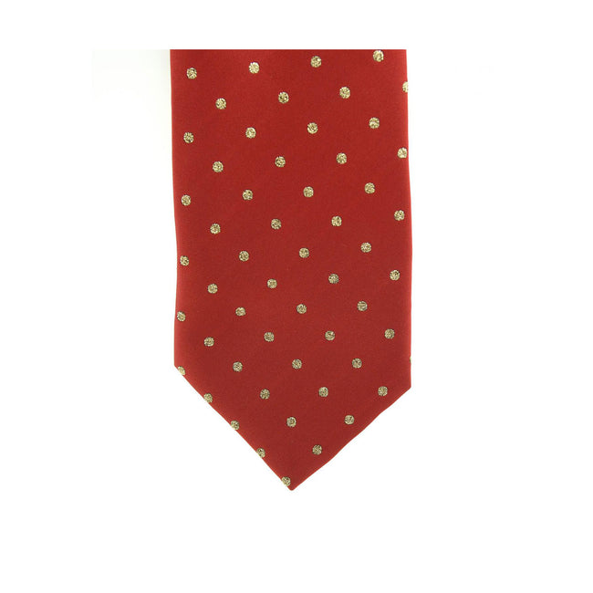 Burgundy-Gold - Front - ShowQuest Childrens-Kids Lurex Spot Tie