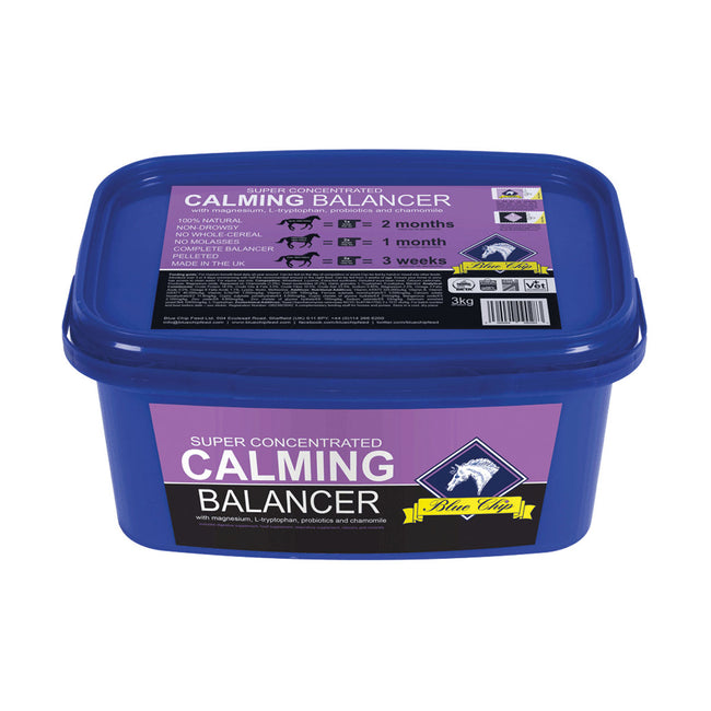 Blue-Purple - Front - Blue Chip Feed Super Concentrated Calming Balancer Horse Supplement
