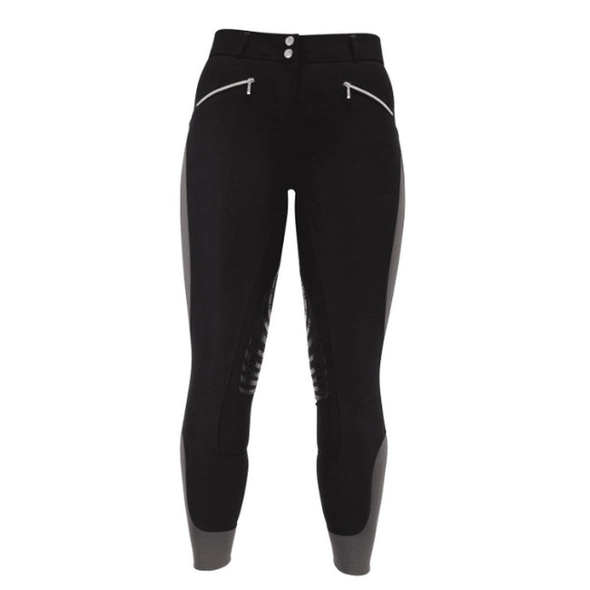 Black-Grey - Front - HyPERFORMANCE Womens-Ladies Sports Active Leather Breeches