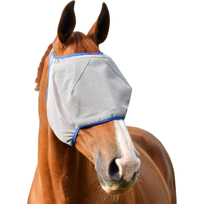 Grey-Blue - Front - Equilibrium Field Relief Midi Fly Mask (No Ears)