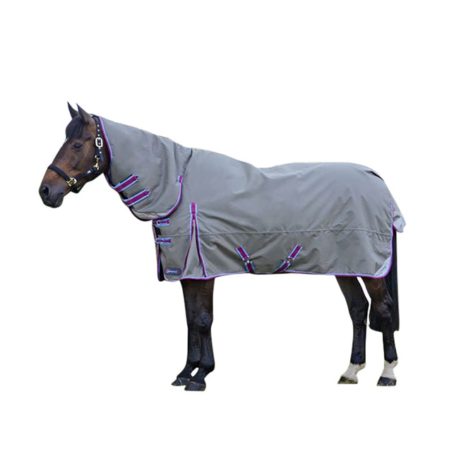 Grey-Berry-Cool Blue - Front - Hy DefenceX System 300 Combi Stable Rug