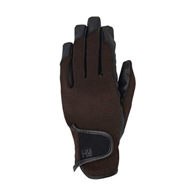 Brown - Front - Hy5 Adults Burnham Pro Riding Gloves