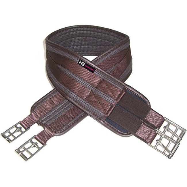 Brown - Front - HyCOMFORT Waffle Girth