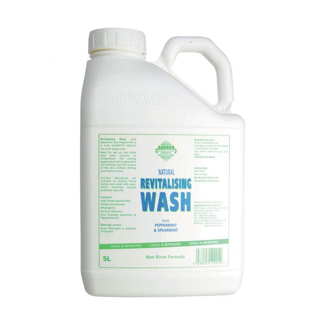Clear - Front - Barrier Revitalising Wash Liquid For Horses