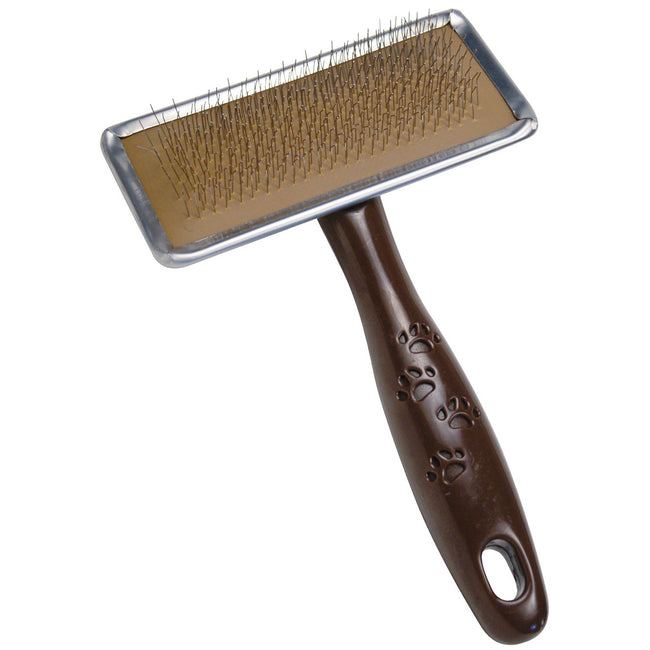 Brown - Front - Gloria Slicker Brush For Dogs