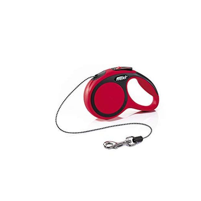 Red - Front - Flexi New Comfort Cord Retractable Dog Lead