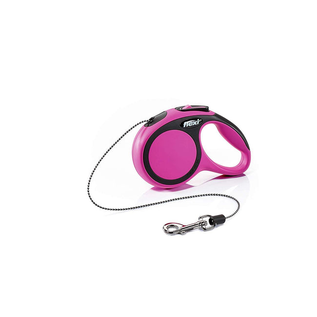 Pink - Front - Flexi New Comfort Cord Retractable Dog Lead