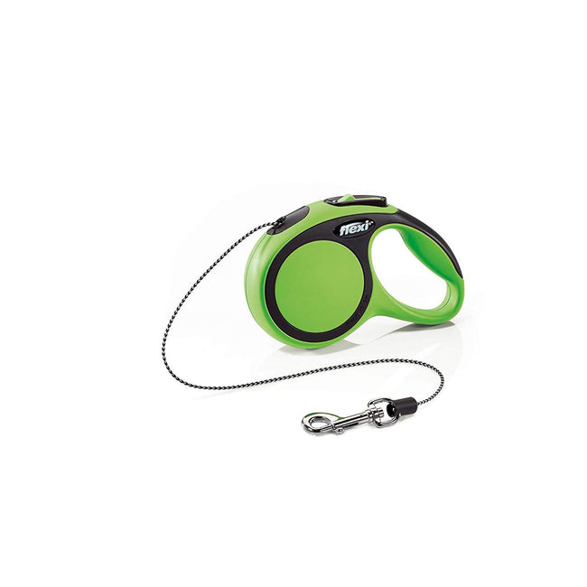 Green - Front - Flexi New Comfort Cord Retractable Dog Lead