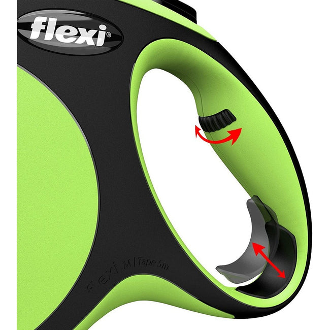 Green - Side - Flexi New Comfort Cord Retractable Dog Lead