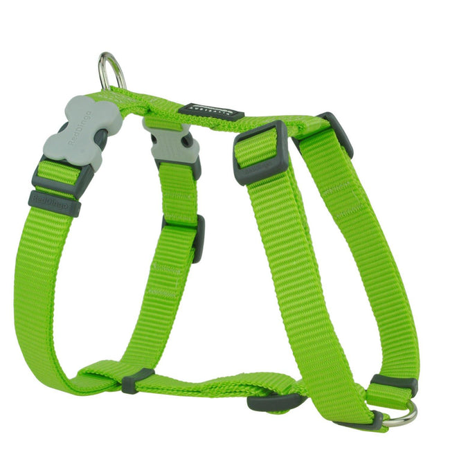 Red - Front - Red Dingo Plain Dog Harness