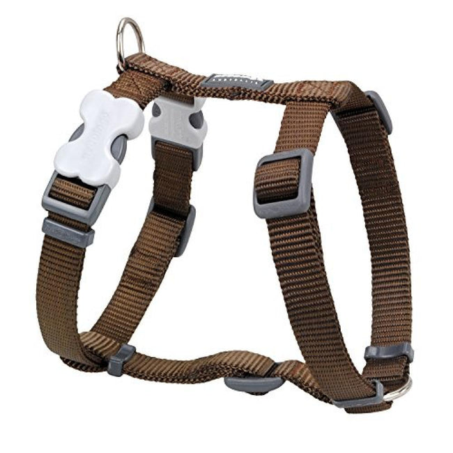 Brown - Front - Red Dingo Plain Dog Harness
