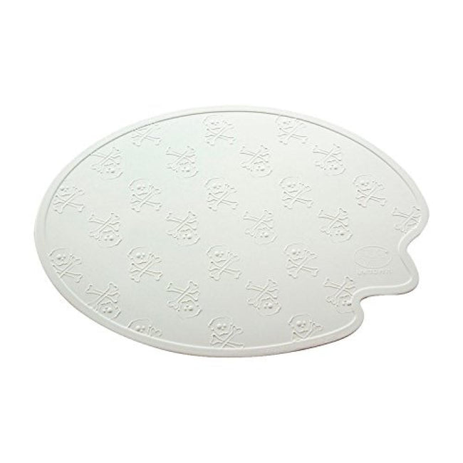 White - Front - United Pets Boss Dog Bowl Mat