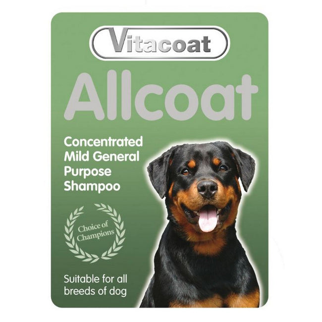 Yellow - Back - Vitacoat Allcoat Dog Shampoo Concentrate Liquid