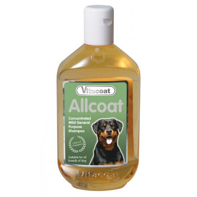 Yellow - Front - Vitacoat Allcoat Dog Shampoo Concentrate Liquid