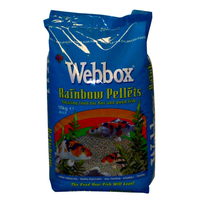May Vary - Front - Webbox Rainbow Pond Fish Food Pellets
