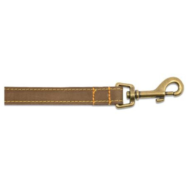Sable-Brown - Front - Ancol Timberwolf Leather Dog Lead