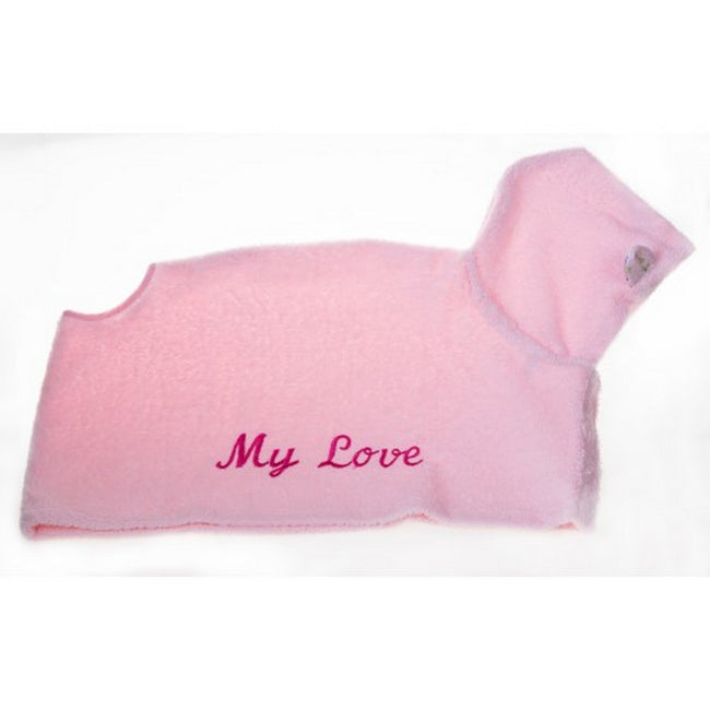Pink - Front - Michi My Love Dog Dressing Gown