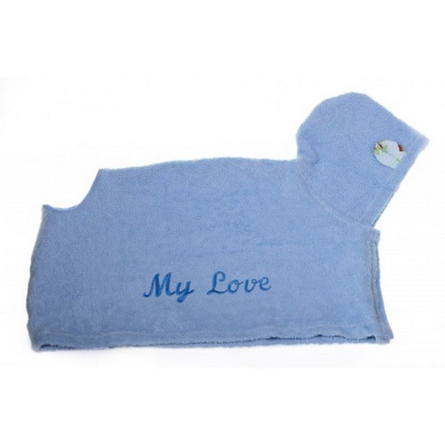 Blue - Front - Michi My Love Dog Dressing Gown