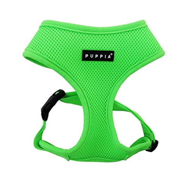 Green - Front - Puppia Neon Soft Dog Harness A