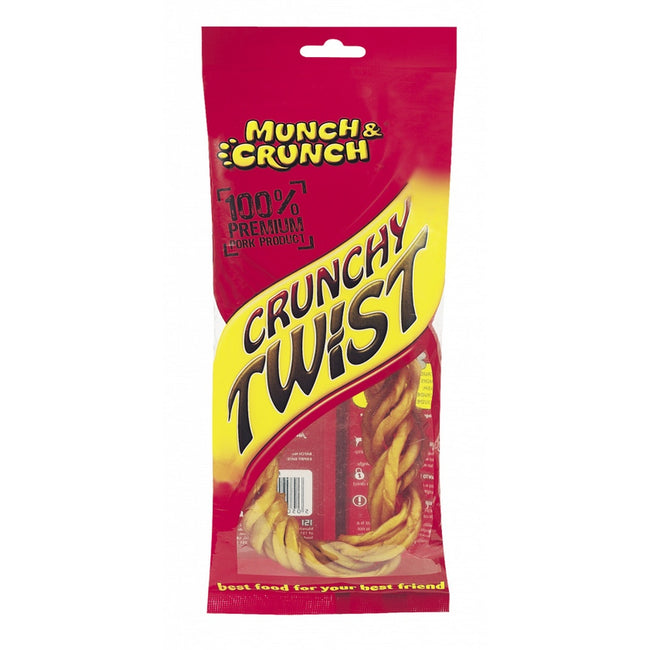 May Vary - Front - Munch & Crunch Smoked Porkhide Crunchy Twist Dog Treat