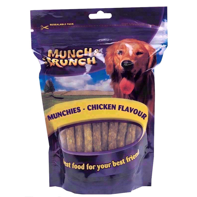 May Vary - Front - Munch & Crunch Chicken Munchies Sticks Dog Treats