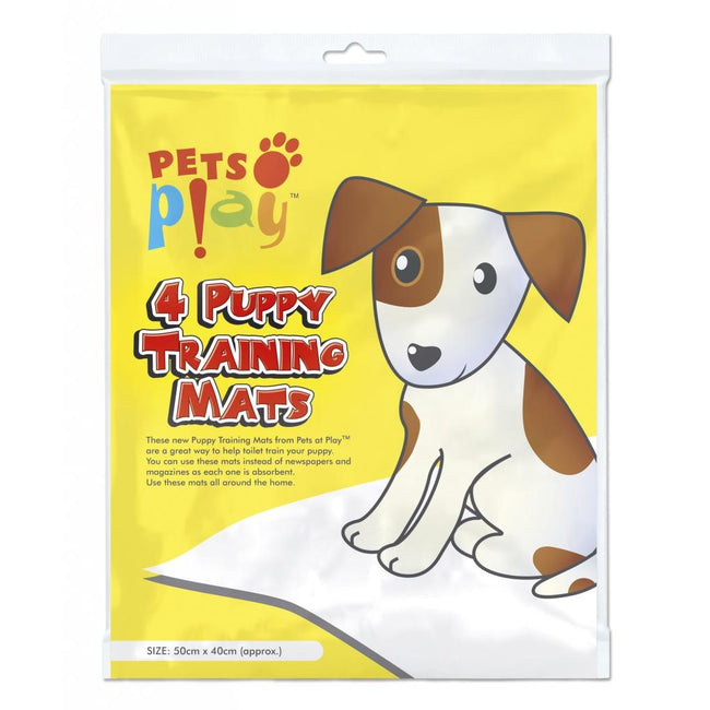White - Front - Pets at Play Puppy Training Mat (Pack Of 4)