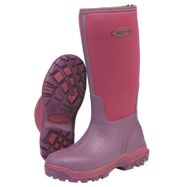 Black - Front - Grubs Womens-Ladies Frostline Boots
