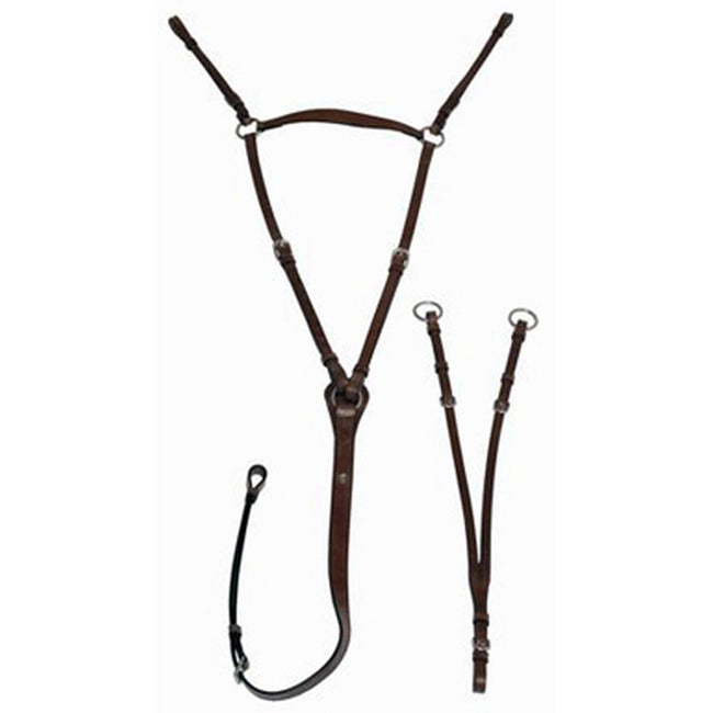 Black - Front - Mark Todd Leather Hunting Breastplate