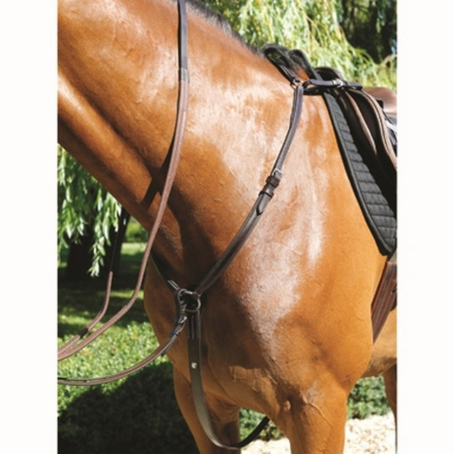 Havana - Front - Mark Todd Leather Padded Breastplate